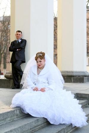 Suknia ślubna welon