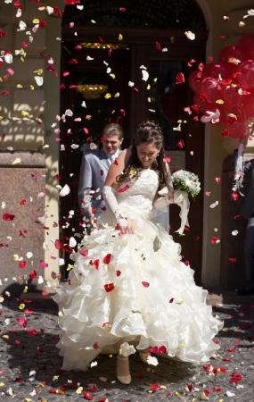 Suknia ślubna organza