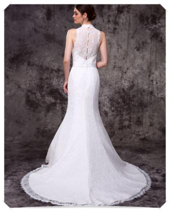 Suknia ślubna koronkowa model rybka