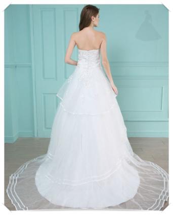 Suknia ślubna koronkowa model linia A