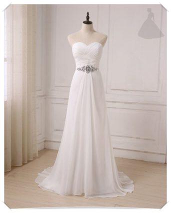 Suknia ślubna skromna model klasyczny
