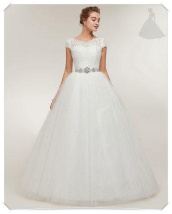 Suknia ślubna skromna model Princessa