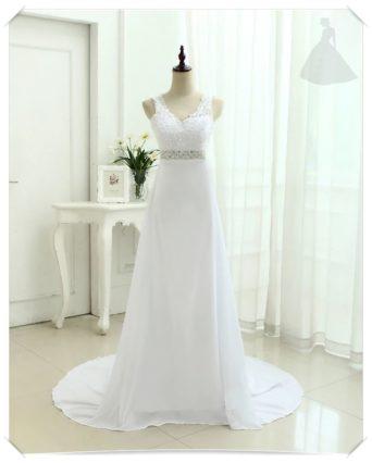 Suknia ślubna skromna Linia A